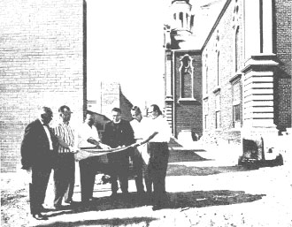 Image of construction of St. Vladimir's church, Hamilton