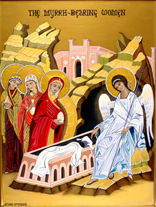 Icon of the Myrrhbearing Women at the Tomb